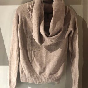 Cream Cowl Neck Sweater - BCBG